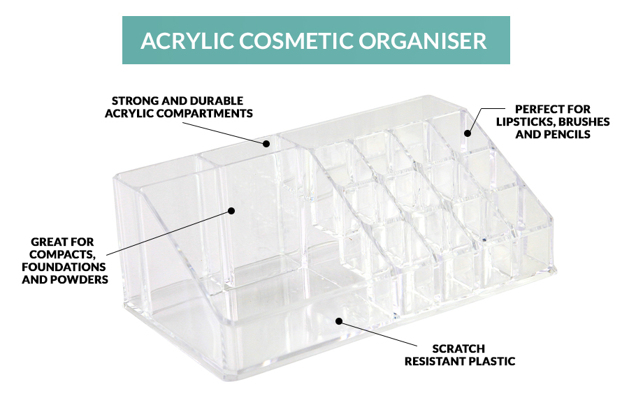 The Sympler acrylic storage container has clear, strong plastic, and the as seen on TV product is great value for money