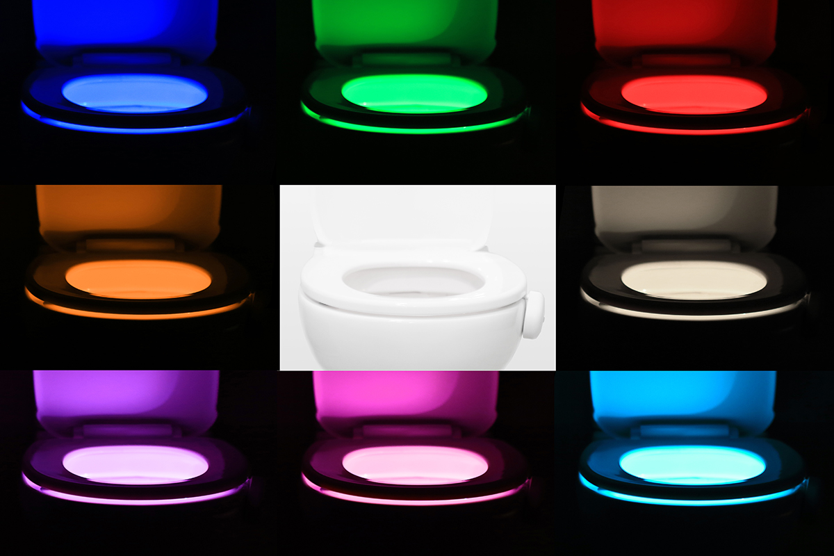 8 Colour Rotating Toilet Night Light
