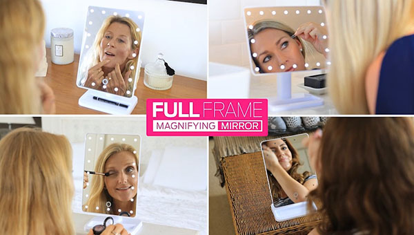The illuminated, magnifying mirror, for that beautiful, Hollywood glamour