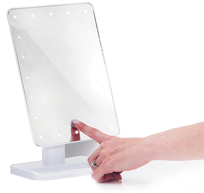 Press and hold the button for several seconds to dim the lights to the required level