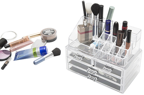 Makeup Cosmetic Organiser Neat Stack 2 Levels